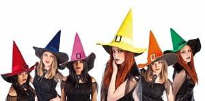 Rubies Haunted House - Sombrero de bruja terciopelo con hebilla, 6 colores S5223)