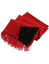Trend Fabric Écharpe Féminine Recto-Verso Imitation Cachemire Double Usage  Couleur Unie Longue Étudiante Automne Hiver Châle Chaud… 7d799959b04