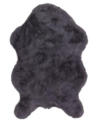 Preisvergleich Produktbild Tender anthrazit 6281 180 041 - ein gewebter Schöner-Wohnen-Teppich in 5 Formen / Größen und 5 Farben. Samtige Oberfläche,  Ess- und Wohnbereich sowie ein sehr schöner Schlafzimmerteppich. Pflegeleicht,  antistatisch,  fußbodenheizungsgeeignet.(60 x 90 cm shaped)