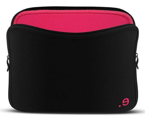 be.ez LA robe Black Addict Tasche für MacBook 33 cm (13 Zoll) schwarz/Raspberry (Tasche Robe)