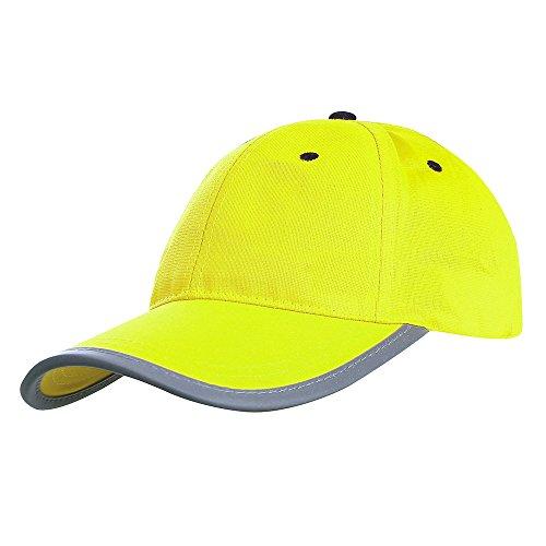 Neon Reflektierende Baseballmütze Sichtbarkeit Gelb oder Orange Sicherheit High Vis Gelb