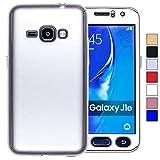 COOVY Funda para Samsung Galaxy J1 SM-J120 / SM-J120F / SM-J120F/DS (Model 2016) 360 Grados, Carcasa Ultrafina y Ligera, con Protector de Pantalla, protección de Cuerpo Completo   Color Lata