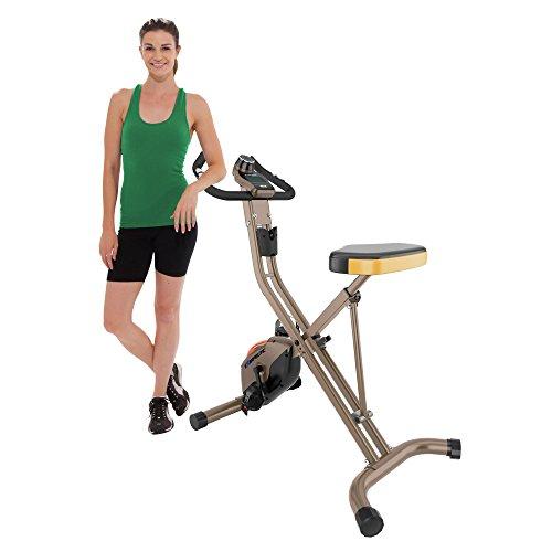 Exerpeutic Gold 500 XLS Foldable Upright Bike, 400 lbs - 4100, Sin Alfombrilla de Equipo, Talla única