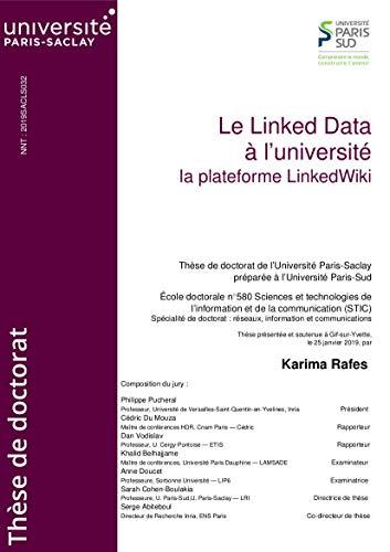 Le Linked Data à l'université: La plateforme LinkedWiki par