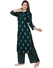 Meera Fab Women's Rayon Readymade Salwar Suit