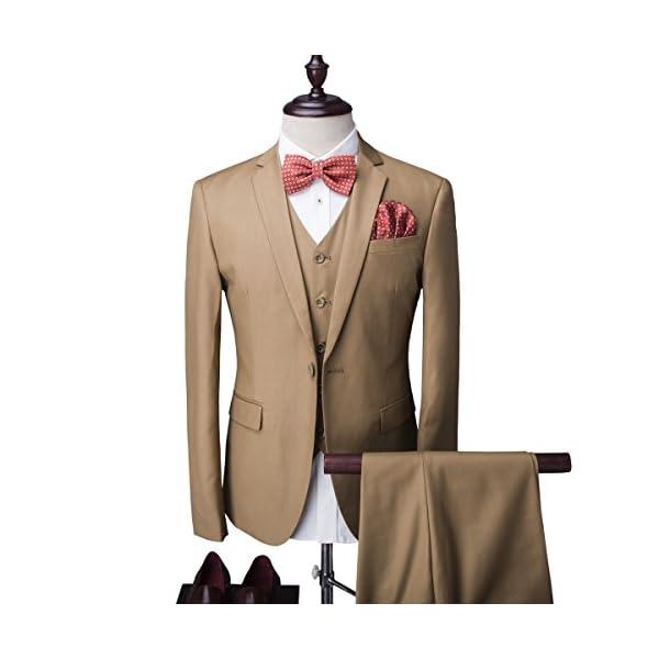 Traje para hombre de 3 piezas Cloudstyle corte entallado, chaqueta de 1 botón y chaleco, para bodas, graduaciones…