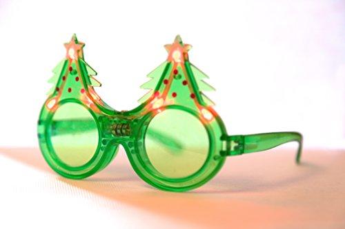 Weihnachtsbaum LED Brillen. Funny Party LED, Lichter, Outfit, Kostüm Zubehör. Weihnachten (Neo Kostüme)