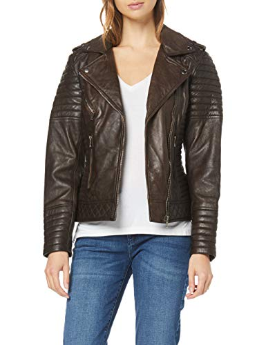Urban Leather Fashion Lederjacke -Michelle, Braun, Größe 40, Large