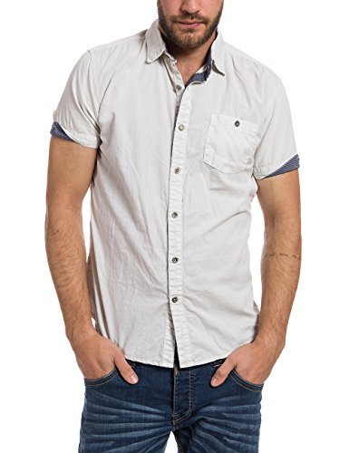 Timezone - Chemise Casual - coupe droite - Col Chemise Classique - Manches Courtes Homme Elfenbein (silver birch 2038)