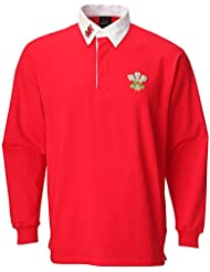 WelshSuperstore T-shirt rugby traditionnel Junior rouge Rouge 9-10year/LB