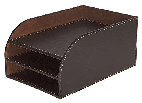 Osco BPU3TT Luxus Faux Leder, Büromaterial-Bürobedarf, braun