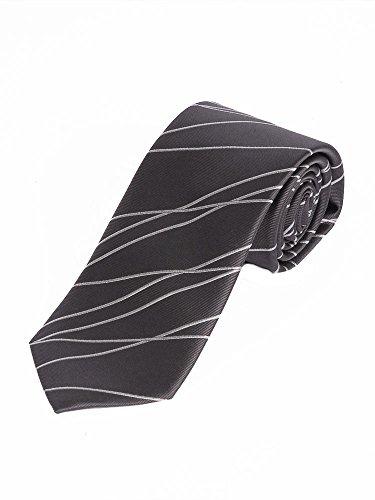Avantgardistische Designer Krawatte in anthrazit Breite ca. 7,5cm/148cm lang