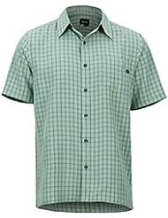 Marmot Eldridge Short Sleeve Camisa Manga Corta, de Senderismo, al Aire Libre, con protección UV, Transpirable, Hombre, Verde (Pond Green), M