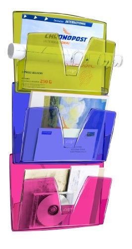 CEP 1001700811 Satz von 3 Wandkörben Happy 170 HM, farbig