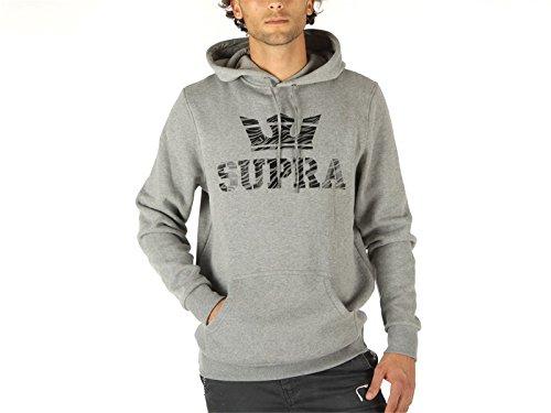 Supra, Uomo, Above Pullover Hood, Cotone, Felpe, Grigio, S EU