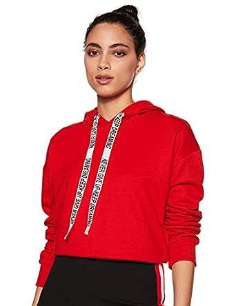 Amazon Brand - Symbol Women's Sweatshirt (AW18WNSSW14_Fire Red_Small)
