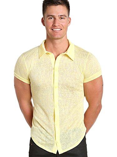 Modus Vivendi -  Camicia Casual  - Uomo Giallo