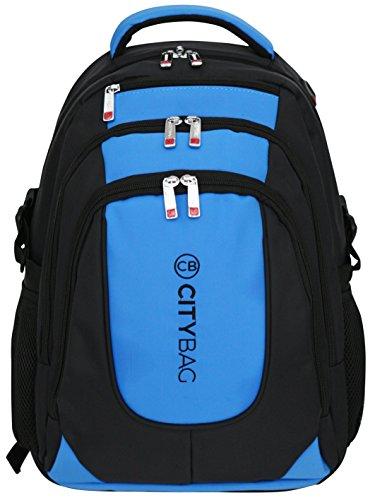 "Mochila de estilo ejecutivo - Para portátiles de 15,6"" - Impermeable y transpirable - Azul"