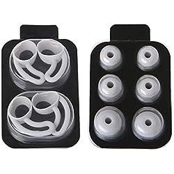 5Paires/Lot Earbud couvertures Anti-dérapant en Silicone Earbuds Crochet Embouts Auriculaires de Remplacement pour Beatsx/urBeats/Urbeats3/Beats Tour Beats Tour d'embouts (Noir)