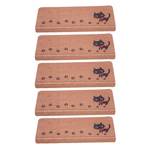 Yijinstyle rutschfeste Aufkleber für Treppe Selbstklebender Rechteckig Teppich Lärmschutz Treppenaufkleber Leuchtend Matten für Stufen (Style#4 * 5, 55 * 22 * 4.5cm)