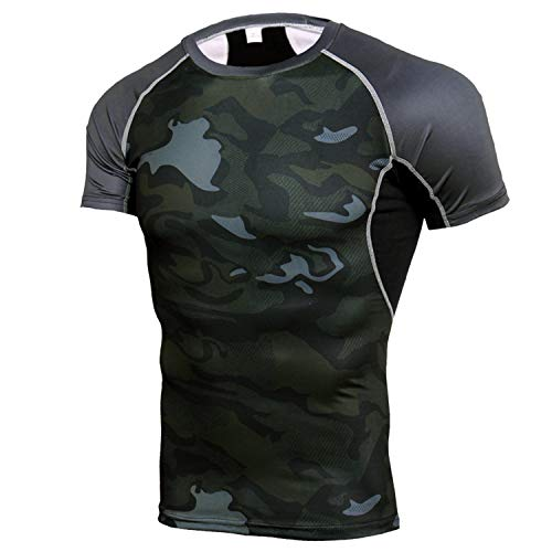 T Shirt Herren 3D Druck Kurzarm Rundhalsausschnitt mit Muster Sommer T-Shirts,Sport-T-Shirt schnell trocknende Kleidung kurzärmelige atmungsaktive schweißabsorbierende Farbe4 XXXXL