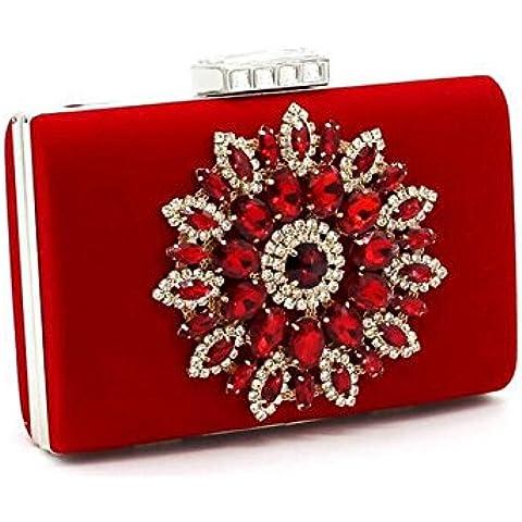 Ledyoung Prom Borse da sposa del diamante del sacchetto della busta del partito borsa delle donne di cerimonia nuziale di modo delle donne - Sposa Sposa Borsa Borsa