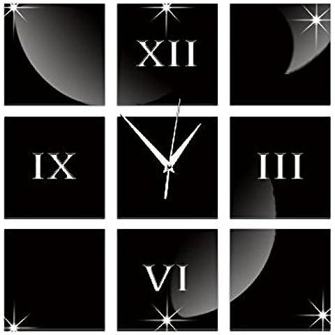 FEI&S elegante espejo acrílico decorativo relojes de pared salón dormitorio Oficina #13