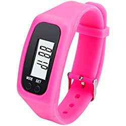 Susenstore Digital LCD Pedometer Run Step Walking Distance Calorie Counter Watch Bracelet