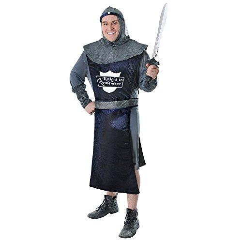 Bristol Novelty AC696 Ritter Kostüm (Medium) (Mens Böse Ritter Kostüm)