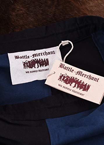 Mittelalterlicher Rock, weit ausgestellt aus schwerer Baumwolle Mittelalter LARP Wikinger Kostüm verschiedene Ausführungen (L, Schwarz/Blau) - 7