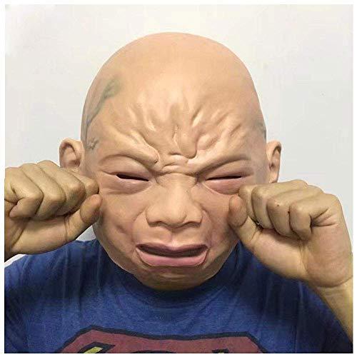 YaPin Kind weinende Maske Smiley Hood Halloween niedliche realistische Maske