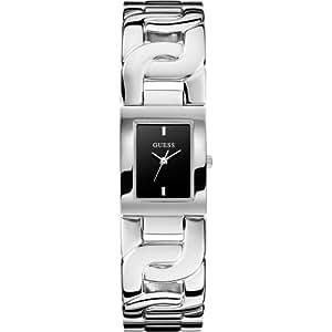 Guess - W0003L4 - Chained - Montre Femme - Quartz Analogique - Cadran Noir - Bracelet Acier Argent