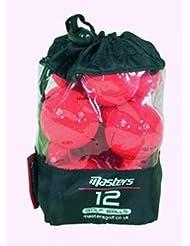 Masters - Bolsa de pelotas de golf (núcleo de titanio, 12 unidades)