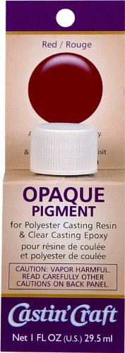 Environmental Technology 1-Ounce Casting' Craft Opaque Pigment, Red