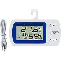 stripei Termómetro Digital Termómetro electrónico de Alta precisión para el hogar Higrómetro para el hogar Termómetro