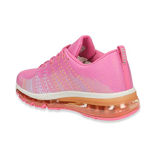 Damen Sneaker Sportschuhe Lauf Freizeit Runners Fitness Low Schuhe Fuchsia
