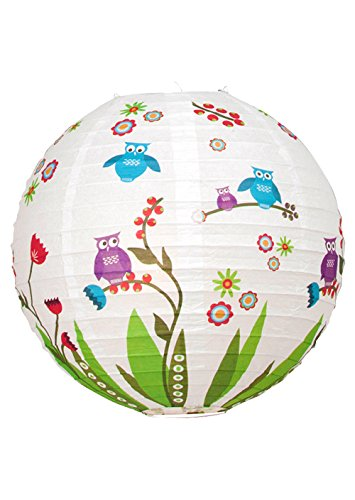 Abat-jour papier Multicolore Motif oiseau sans suspension Brilliant Birds 56099p72