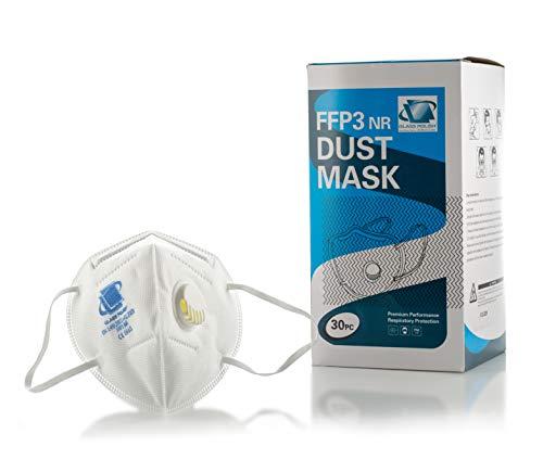 GLASS POLISH GP15004 Maschera antipolvere FFP3 NR, respiratore maschera facciale monouso mezza maschera/confezione da 30