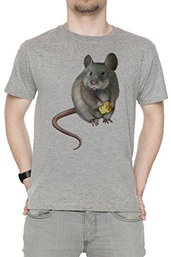 rata-del-raton-gris-algodon-hombre-camiseta-manga-corta-cuello-redondo-mangas-grey-mens-t-shirt