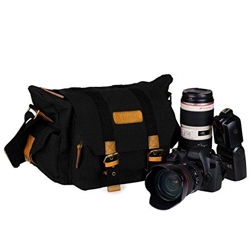 TARION Borsa fotografica a tracolla portabile da ottenere 2xCamera 2xLens e 1xFlash per fotocamere digitali (dimensioni interne: circa 30 x 12 x 20 cm)