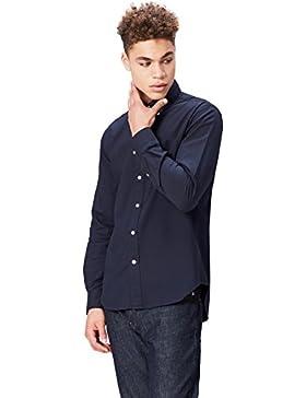 FIND Camicia in Cotone con Inserti Uomo