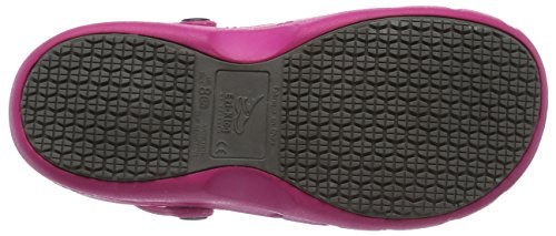 Toffeln Eziklog, Unisex - Erwachsene Arbeits Clogs, Schwarz (Schwarz), 46 EU (11 UK) Pink (Hot Pink)