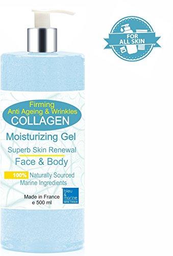 Gel di collagene marino biodisponibile rasatello-tersura/H2della pelle 500ml Viso e Corpo Gel Idratante Rassodante