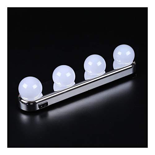 Specchio Jue Kit di luci for specchietti di cortesia a LED Amazon Hot New 4 fari for lampadine for Il Trucco Luce di riempimento Portatile Multifunzione Punzonatura Gratuita A++ (Size : LED)