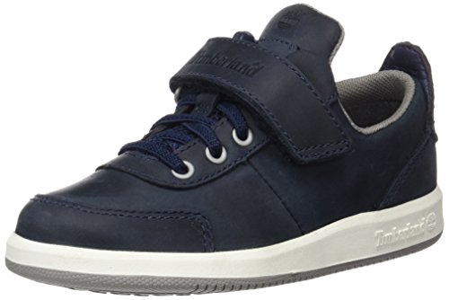 Timberland Unisex Baby Court Side Oxford W/Strapblack Iris Saddleback Full Grain Lauflernschuhe, Gr. 27 EU, Blau (Black Iris Saddleback Full Grain)