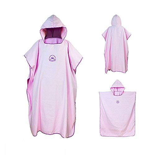 Ele Eleoption Serviette en robe Poncho avec capuche en microfibre, compacte et légère, idéale pour la plage, les vacances, les voyages, le surf - Taille unique