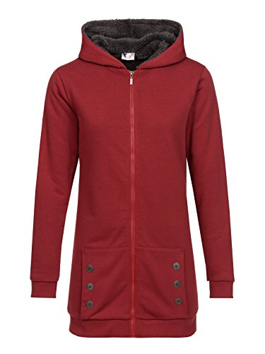 Pussy Deluxe Teddy Fleece Coat Felpa jogging donna borgogna M