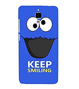 FIOBS googly funny emoji art twisted face keep smiling Designer Back Case Cover for Xiaomi Redmi Mi 4 :: Redmi Mi 4
