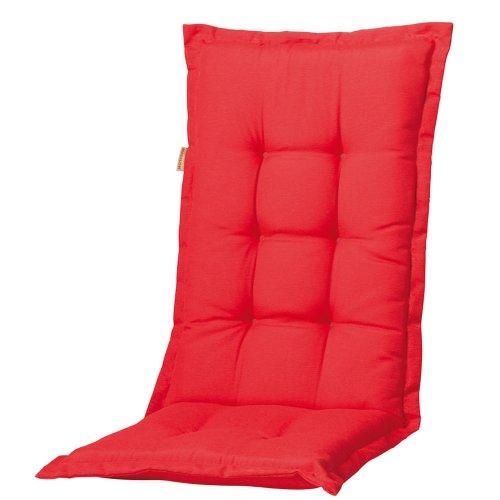 Madison 7PHOSB220 Auflage Panama für Sessel hoch, 75% Baumwolle 25% Polyester, 123 x 50 x 8 cm, rot
