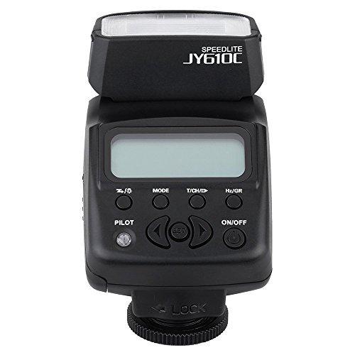 Viltrox JY-610C Speedlite 1.5in LCD E-TTL On-camera Slave Flash Light for Canon 750D 760D 5DR 5DRS 60D 70D 700D 5D3 DSLR Camera